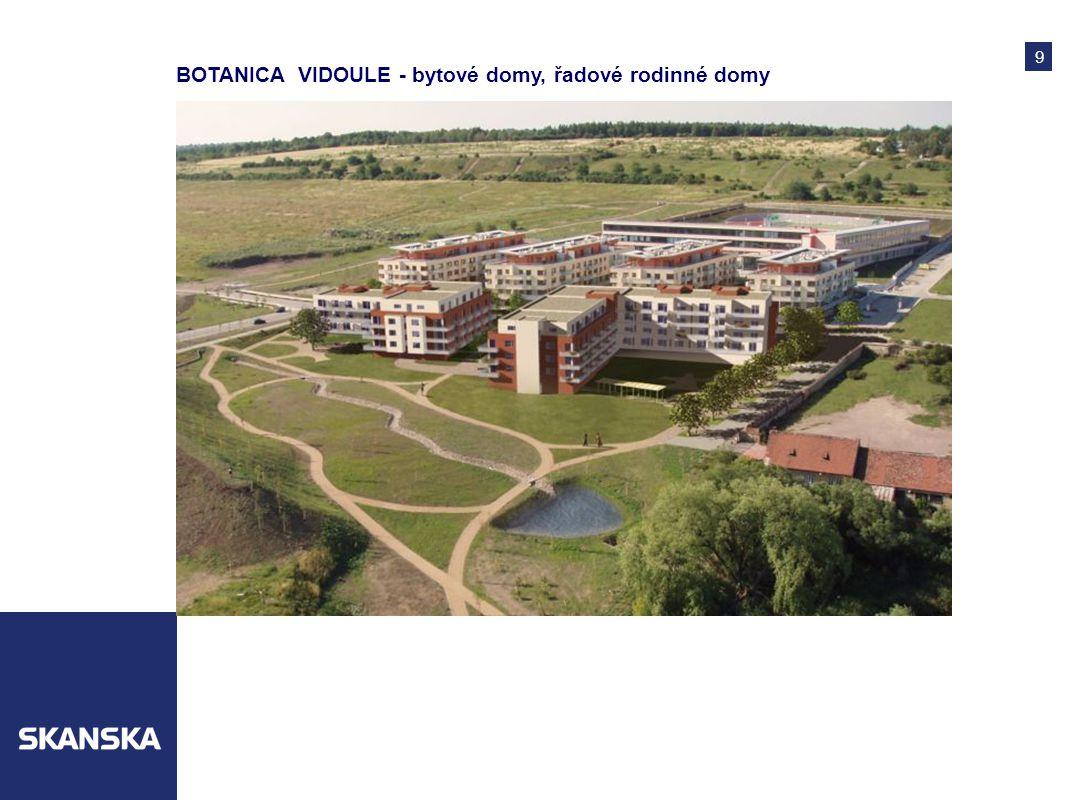 9 BOTANICA VIDOULE - bytové domy, řadové rodinné domy
