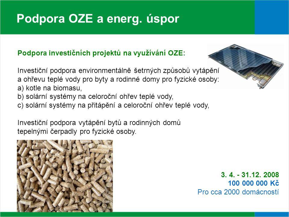 Podpora OZE a energ.