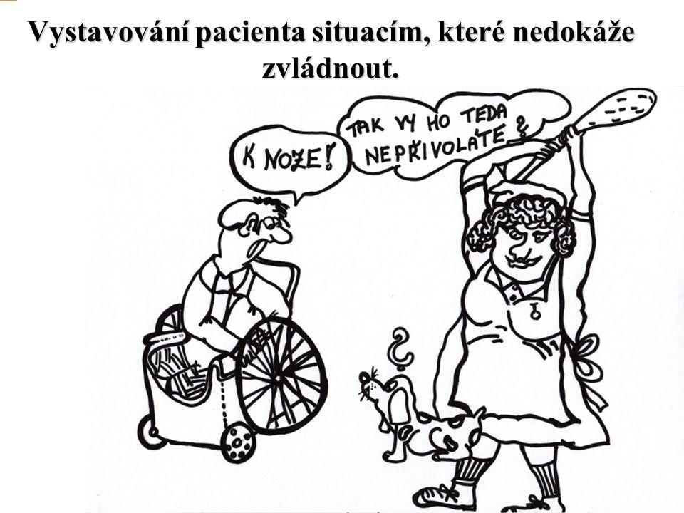 Vystavování pacienta situacím, které nedokáže zvládnout.