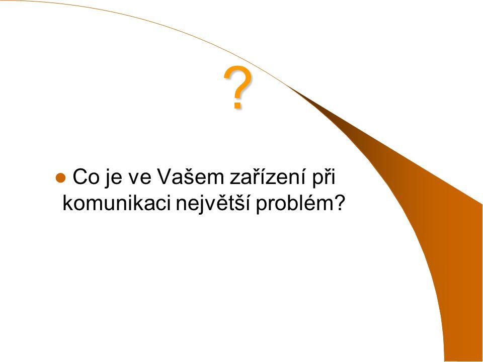 Co je ve Vašem zařízení při komunikaci největší problém? ?