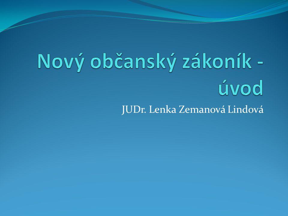 JUDr. Lenka Zemanová Lindová