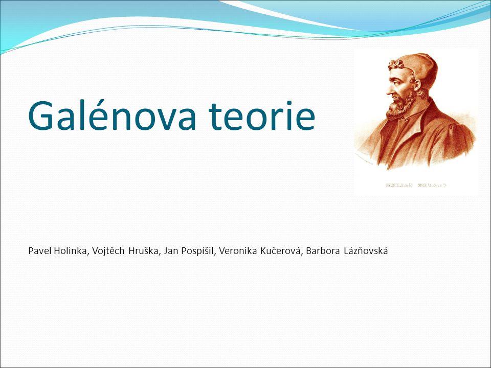Galénova teorie Pavel Holinka, Vojtěch Hruška, Jan Pospíšil, Veronika Kučerová, Barbora Lázňovská