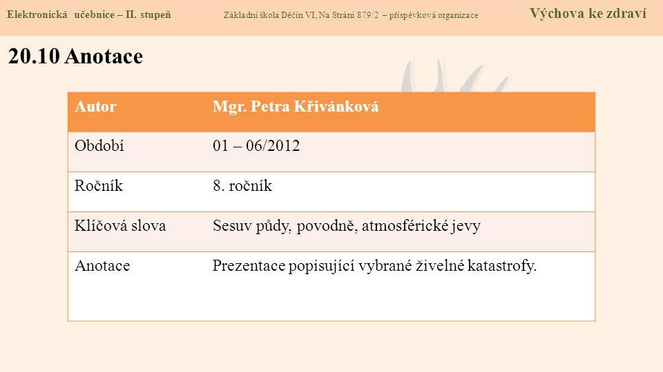 20.10 Anotace Elektronická učebnice – II.