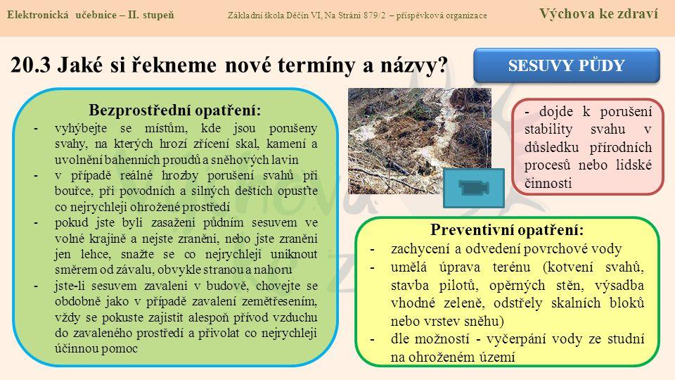 20.3 Jaké si řekneme nové termíny a názvy.Elektronická učebnice - II.