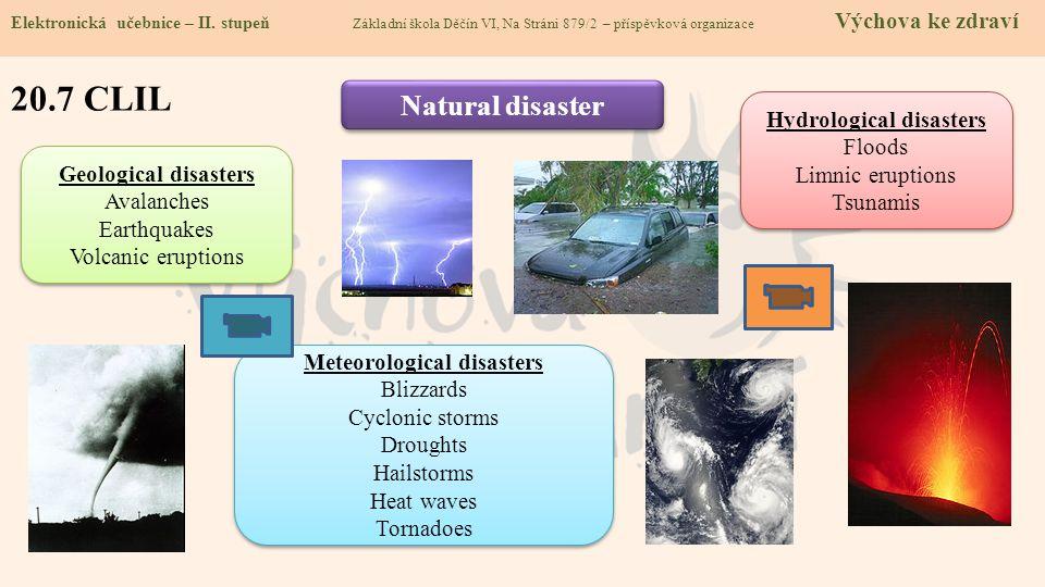 20.8 Test znalostí Správné odpovědi: 1.Sněhová lavina patří mezi: a/ atmosférické poruchy b/ sesuvy půdy c/ povodně d/ zemětřesení 3.Kam se ukryješ při hrozbě nebezpečí atmosférických jevů.