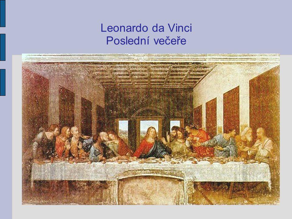Leonardo da Vinci: Vitruvian (kresba znázorňuje ideál harmonie těla a ducha, jeden z hlavních principů humanismu)