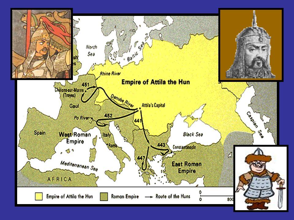 Až do r.375 se germáni spokojovali s občasnými nájezdy do impéria Ale koncem 4.