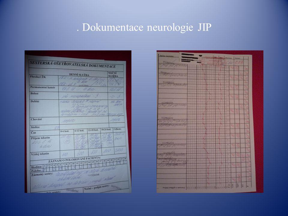 . Dokumentace neurologie JIP