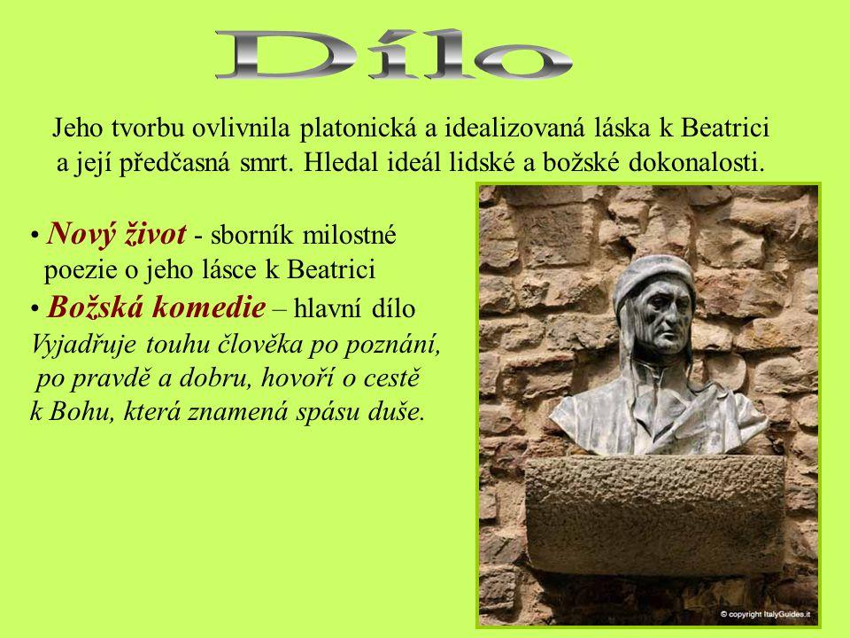 Vyhnanství Dante se živě účastnil politického života, hájil městské svobody proti papežské moci. Roku 1301odjel jako člen poselstva k papeži Bonifáci