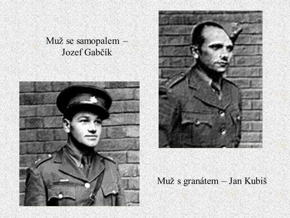 Předmět: černá mercedeska Terč: Heydrich