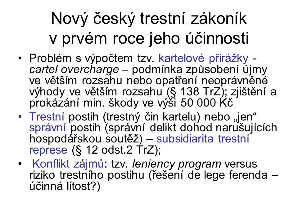 Nový český trestní zákoník v prvém roce jeho účinnosti Problém s výpočtem tzv.