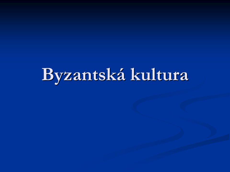 Byzantský sloh Vytvořen za vlády Justiniána I.(6.