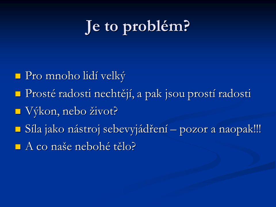 Je to problém.