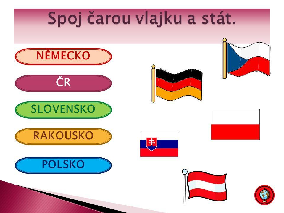 Pojmenuj státy EU, které obklopují Českou republiku.