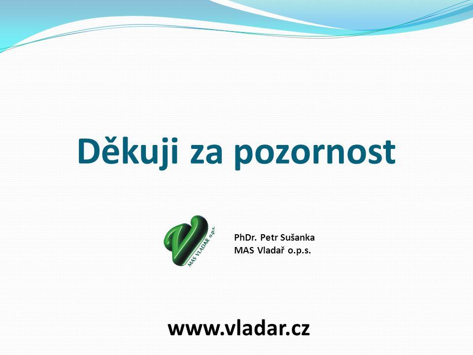 Děkuji za pozornost www.vladar.cz PhDr. Petr Sušanka MAS Vladař o.p.s.