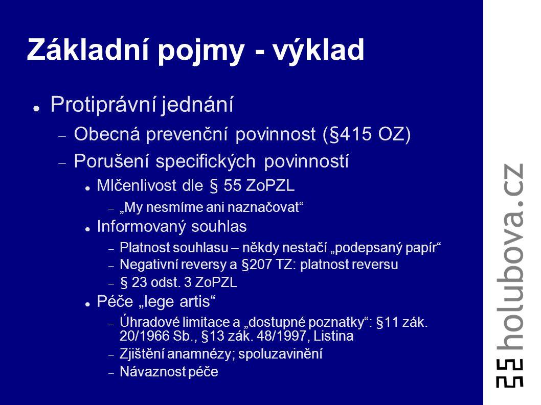 Občanskoprávní odpovědnost Dva základní typy  Ochrana osobnosti (§11 a násl.)  Odpovědnost za škodu (§420 a násl.) Obecná odpovědnost za škodu (§420