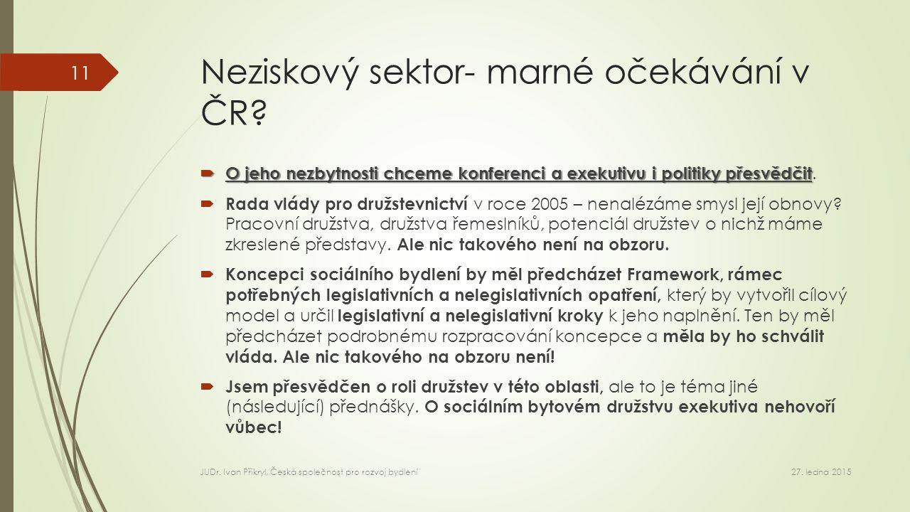 Neziskový sektor- marné očekávání v ČR.