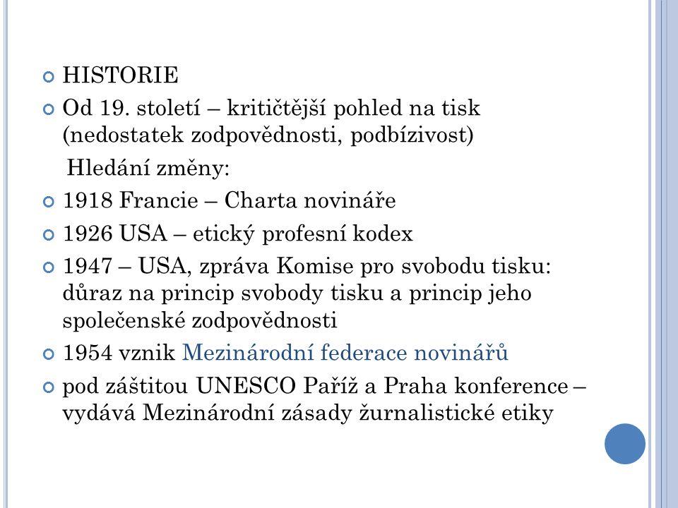 HISTORIE Od 19.
