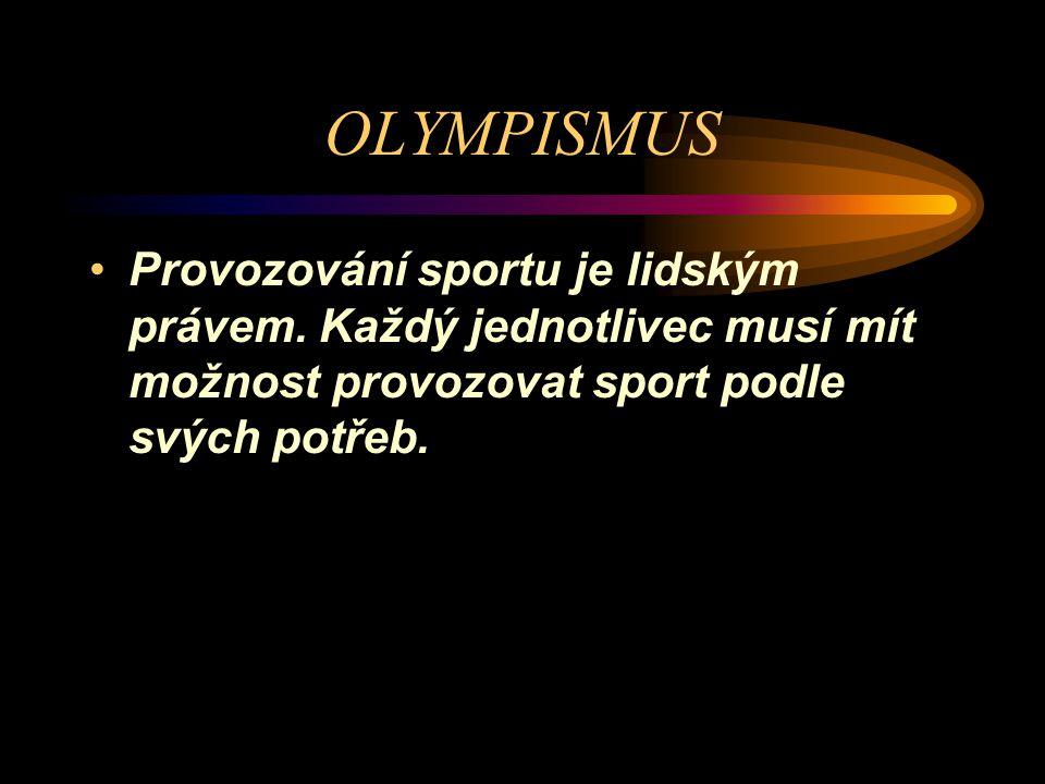 OLYMPISMUS Moderní olympismus vyústil v olympijské hnutí řízené MOV....Olympijské hnutí sdružuje organizace, sportovce a další osoby, které souhlasí s Olympijskou chartou a řídí se jí.