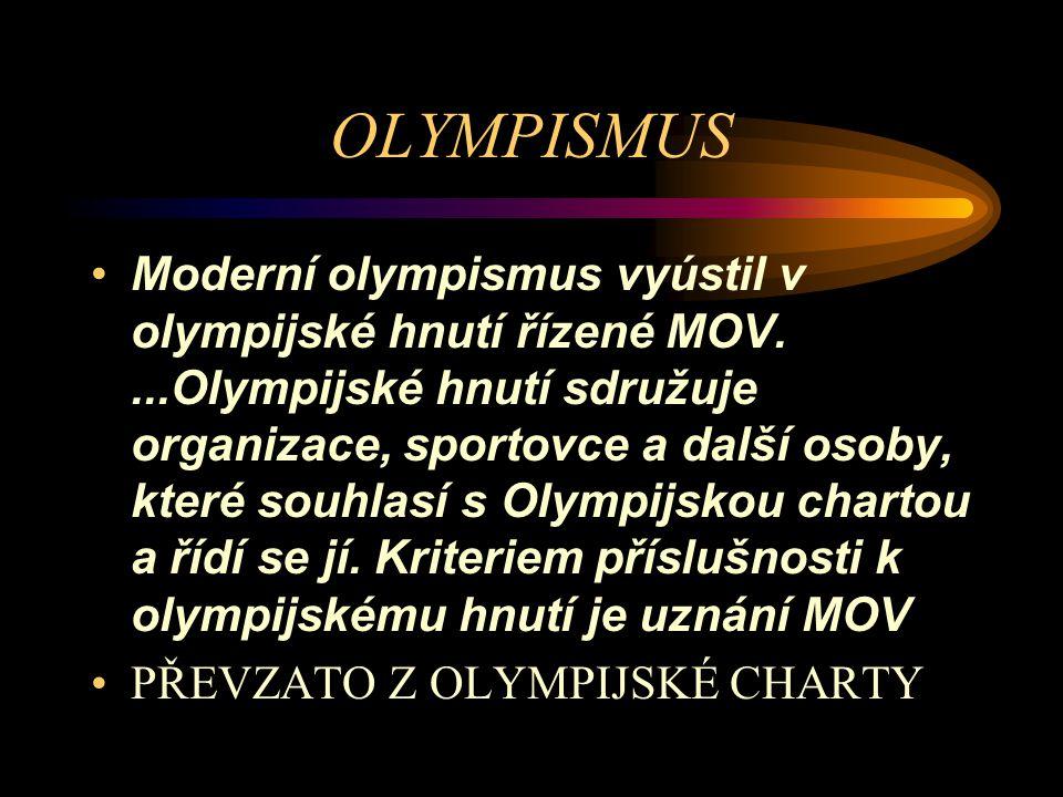 ČESKÝ OLYMPIJSKÝ VÝBOR Český olympijský výbor byl založen 18.