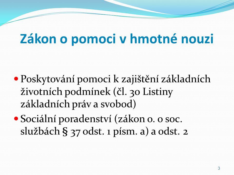 Příspěvek na živobytí (PnŽ) Nárok na dávku Nárok na výplatu dávky PnŽ ve vratné podobě (§ 22) Výše PnŽ (§ 23) Forma poskytování 24