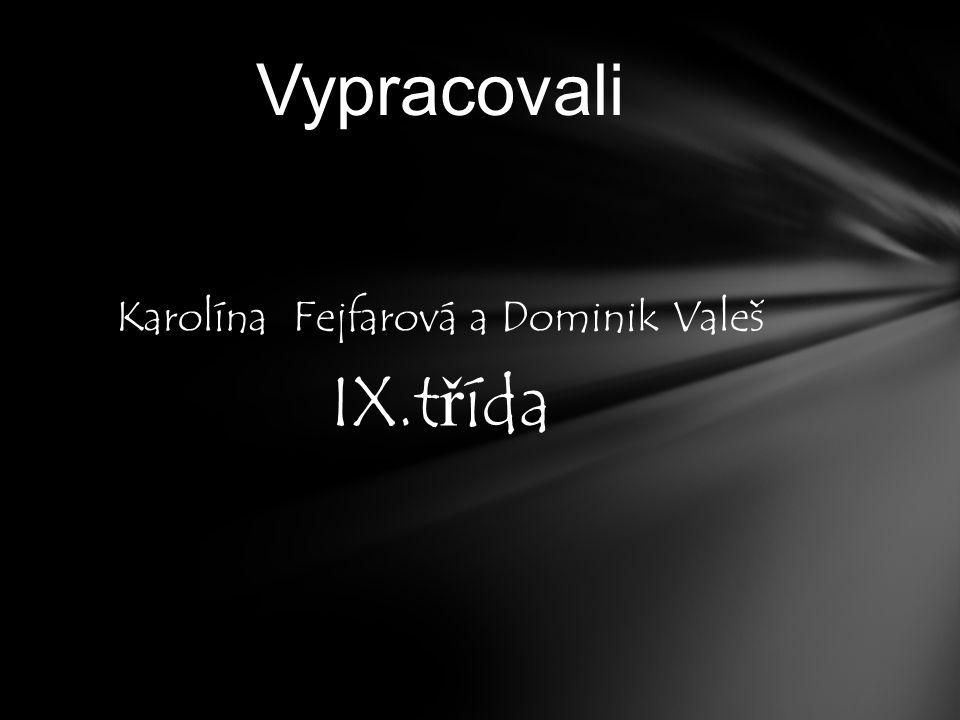 Karolína Fejfarová a Dominik Valeš IX.t ř ída Vypracovali