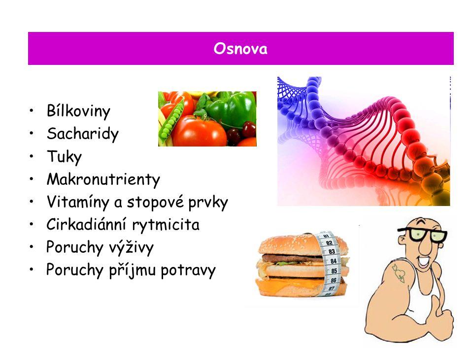 Poruchy příjmuu makroelementů minerální látky nezbytné pro organizmus, vyskytující se od desíti po desítky procent fosfor (P) hořčík (Mg) draslík(K) - chlor (Cl) sodík (Na) vápník (Ca)