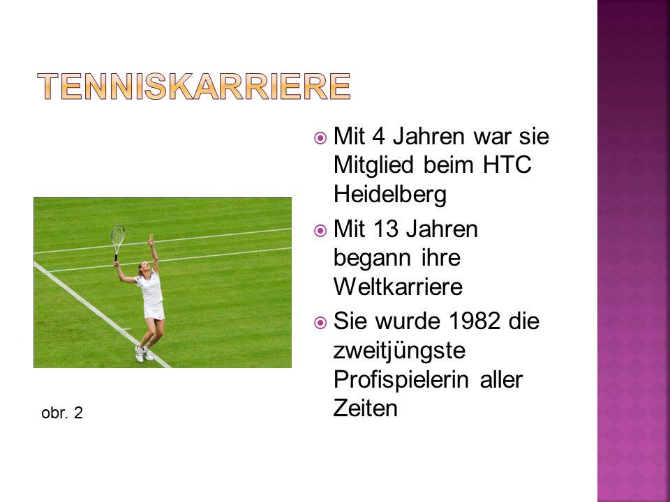  Mit 4 Jahren war sie Mitglied beim HTC Heidelberg  Mit 13 Jahren begann ihre Weltkarriere  Sie wurde 1982 die zweitjüngste Profispielerin aller Ze