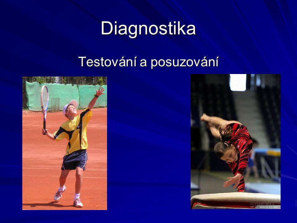 Diagnostika Testování a posuzování