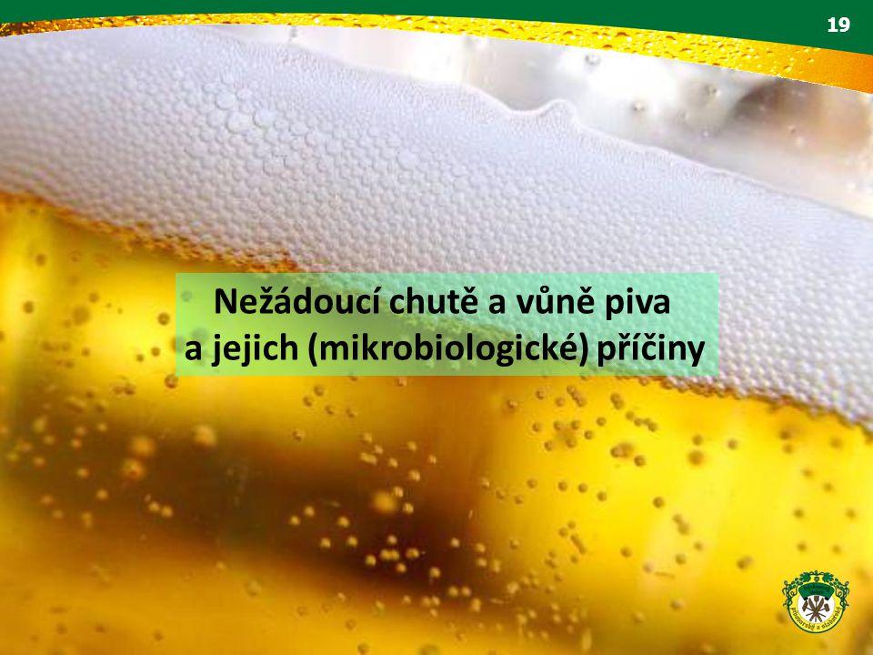 19 Nežádoucí chutě a vůně piva a jejich (mikrobiologické) příčiny