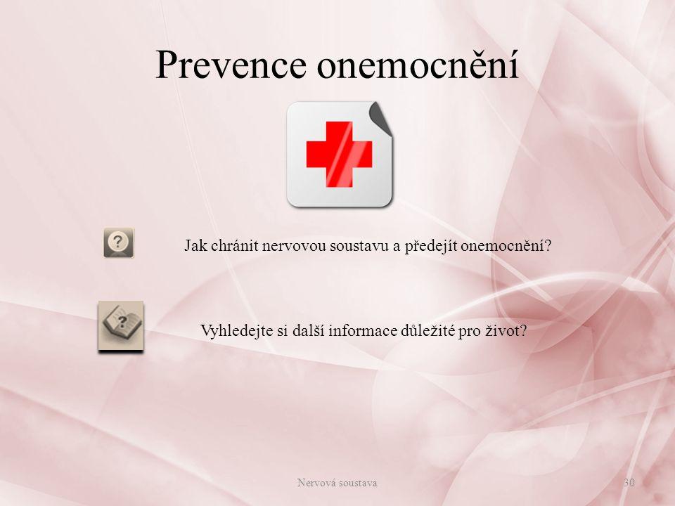 Zdroje: použité zdroje viz. prezentace: Zdroje a literatura 31Nervová soustava