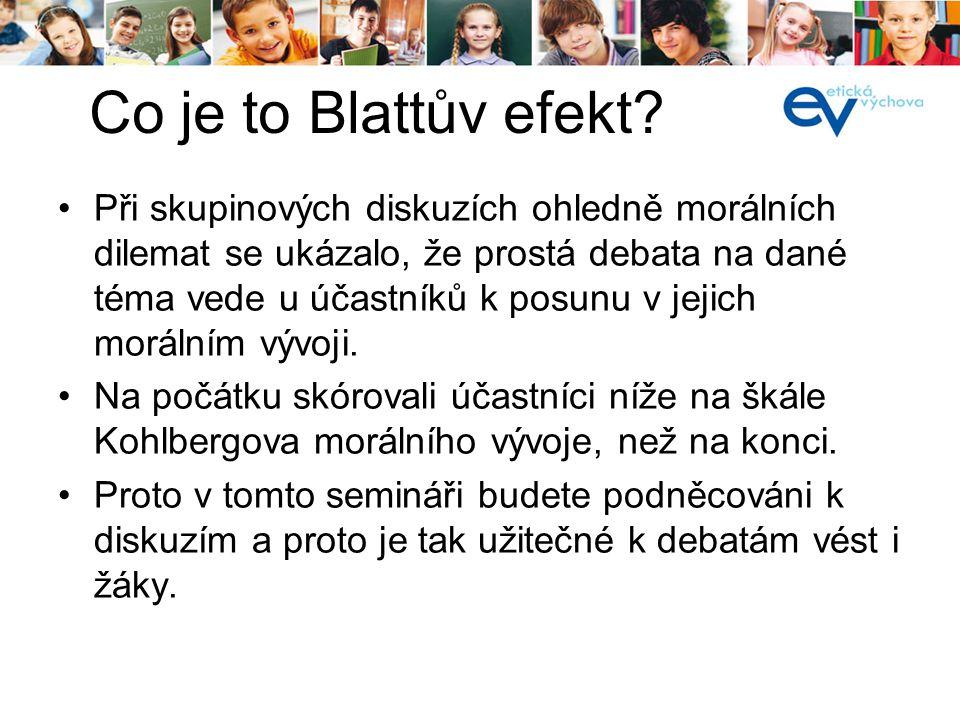 Co je to Blattův efekt.