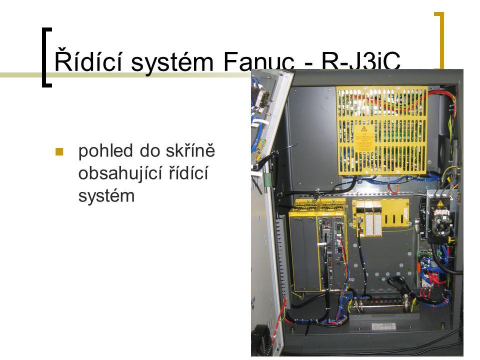 Řídící systém Fanuc - R-J3iC pohled do skříně obsahující řídící systém