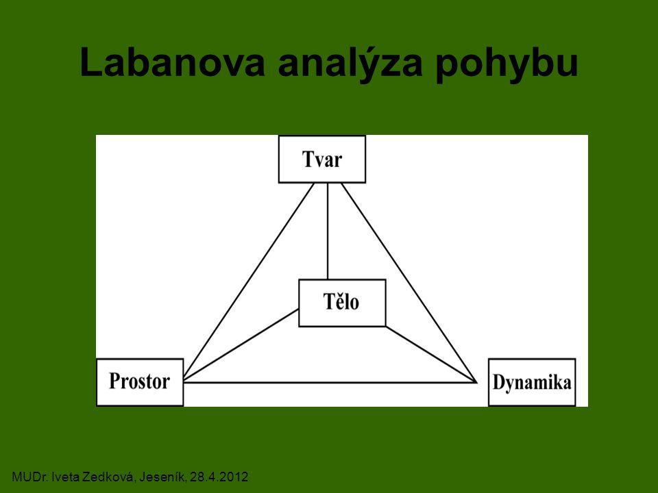 Labanova analýza pohybu MUDr. Iveta Zedková, Jeseník, 28.4.2012