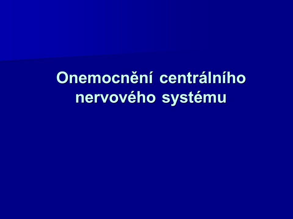 Kortikospinální dráha Onemocnění vzniká poškozením kortikospinální drahy (centrální motoneuron, pyramidový).