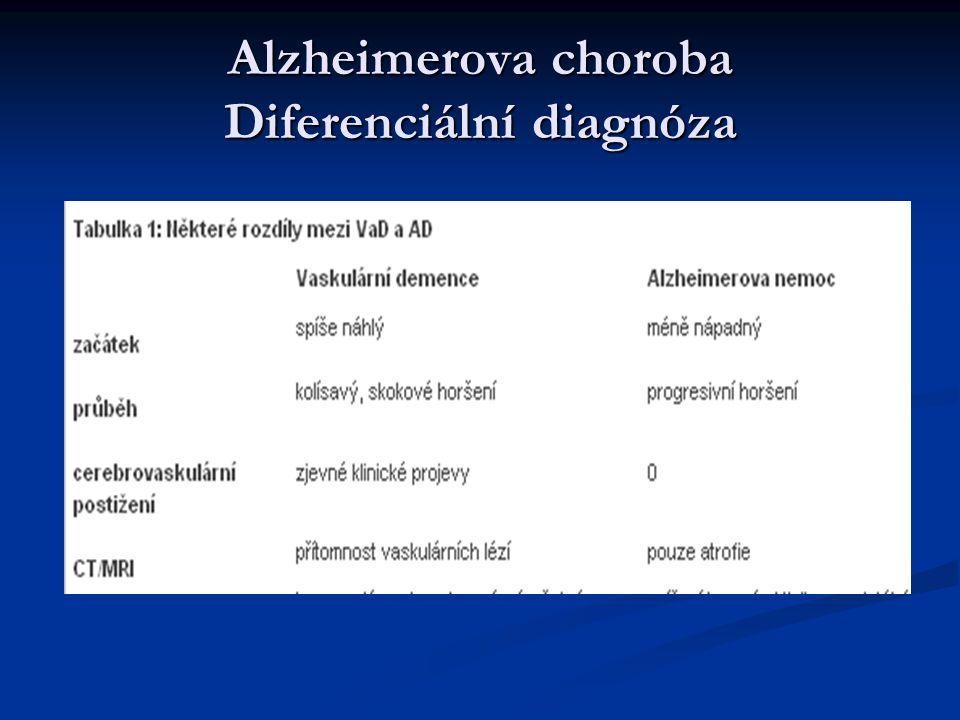 Alzheimerova choroba Diferenciální diagnóza
