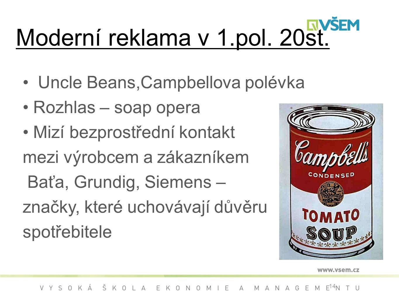 14 Moderní reklama v 1.pol.20st.