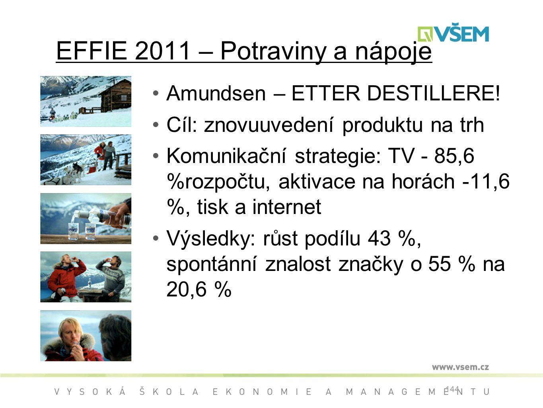 EFFIE 2011 – Potraviny a nápoje Amundsen – ETTER DESTILLERE.