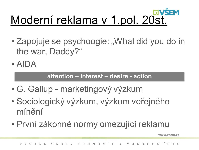 "Zapojuje se psychoogie: ""What did you do in the war, Daddy? AIDA G."