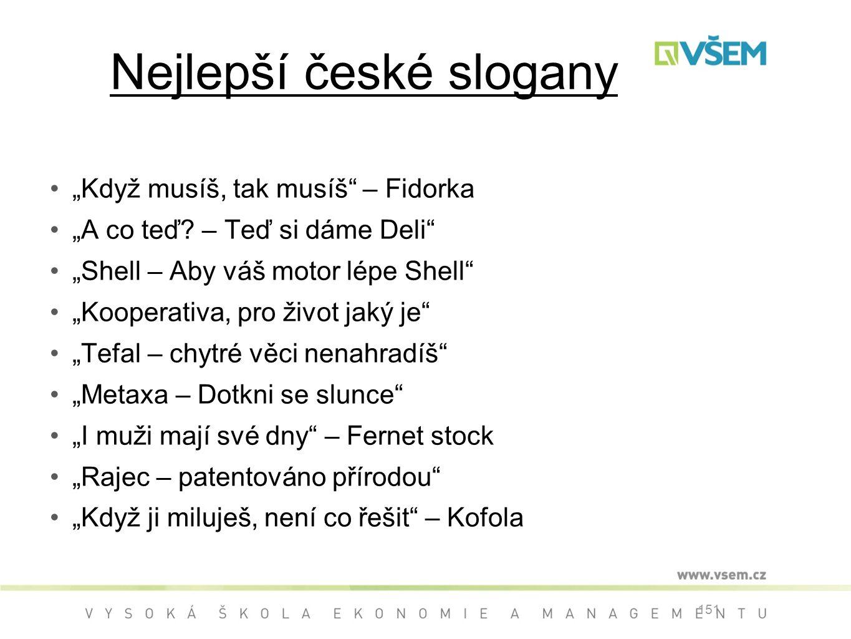 """Nejlepší české slogany """"Když musíš, tak musíš – Fidorka """"A co teď."""