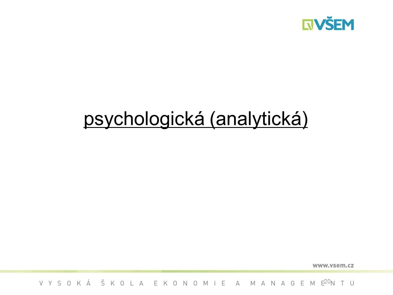 20 psychologická (analytická)
