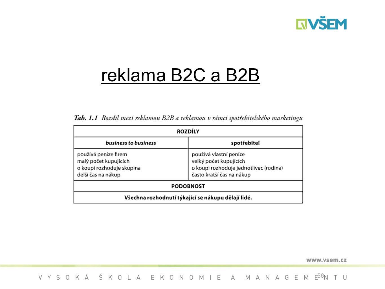 56 reklama B2C a B2B