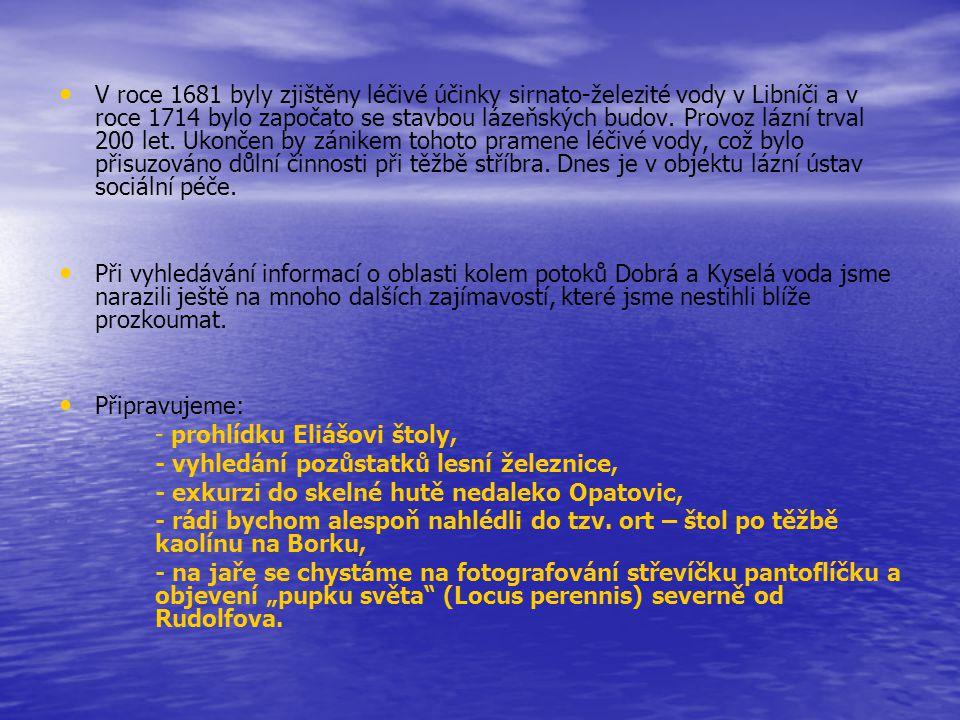 V roce 1681 byly zjištěny léčivé účinky sirnato-železité vody v Libníči a v roce 1714 bylo započato se stavbou lázeňských budov. Provoz lázní trval 20