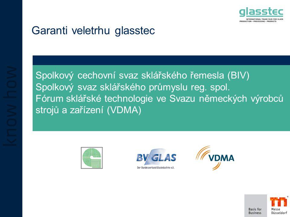 Garanti veletrhu glasstec Spolkový cechovní svaz sklářského řemesla (BIV) Spolkový svaz sklářského průmyslu reg.
