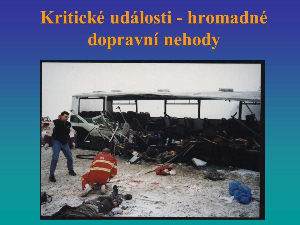 Kritické události - hromadné dopravní nehody