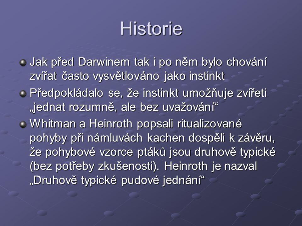 Literatura a zdroje: Fraňková, S., Bičík, V.: Srovnávací psychologie a základy etologie.