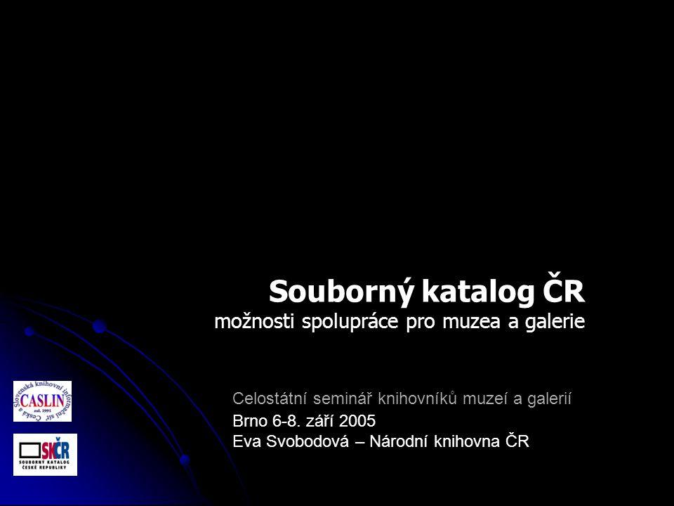 Celostátní seminář knihovníků muzeí a galerií Brno 6-8.