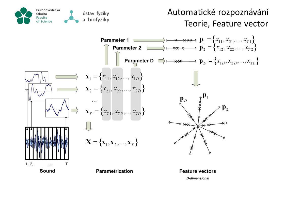 Automatické rozpoznávání Teorie, Feature vector