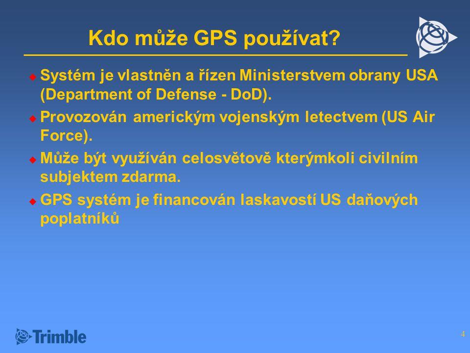 4 Kdo může GPS používat.