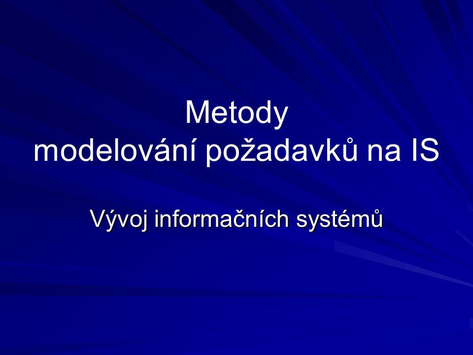 Metody modelování požadavků na IS Vývoj informačních systémů